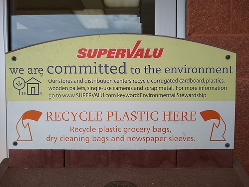 Willies' plastic bag recycle bin
